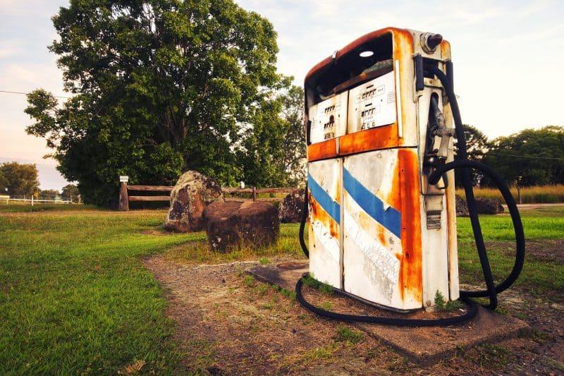 תחנת דלק לבנה